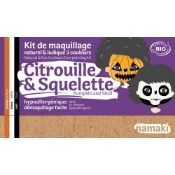 Kit 3 couleurs Citrouille et Squelette