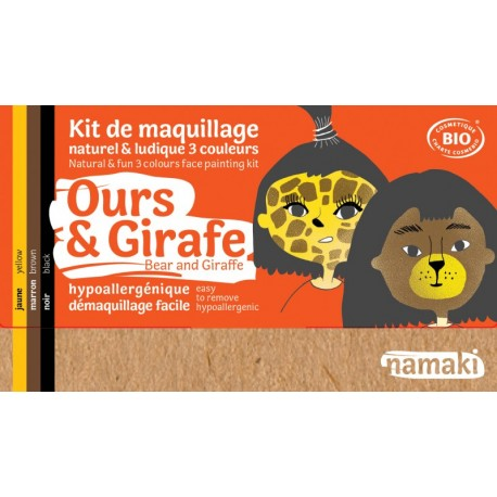 Kit 3 couleurs Ours et Girafe